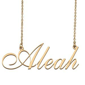 Custom Personalized Aleah Name Necklace